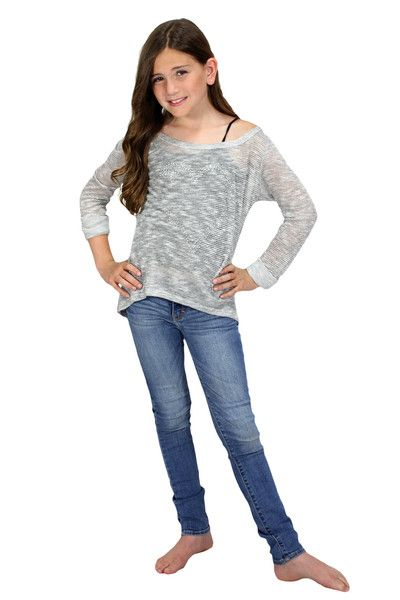 A staple light weight sweater perfect for any girl's wardrobe!