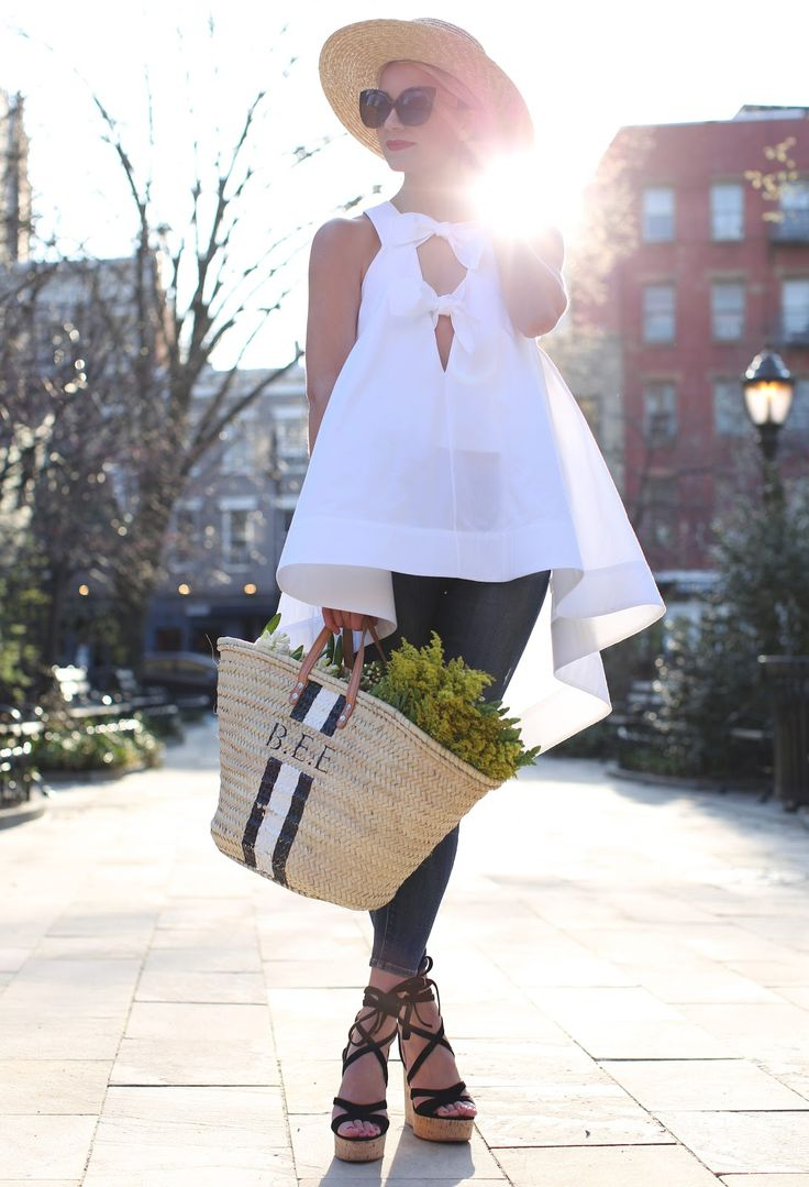 Adore this white top!  Must have it!  not your average white top // | // Atlantic-Pacific                                                                                                                                                                                 More