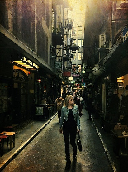 what a nifty alley street- Centre Place, Melbourne
