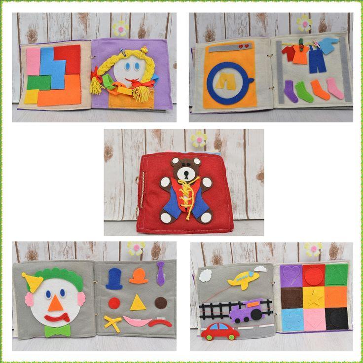 Quiet book for toddlers carte senzoriala din fetru cu activitati pentru copii