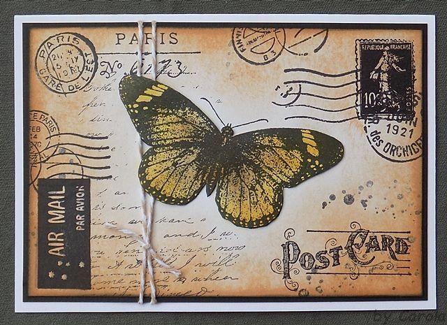 Hallo liebe Blogleser!     Diese Karte ging als Begleitpost auf die Reise.        Stempel : Schmetterling von Non Sequitur / Poststempel v...
