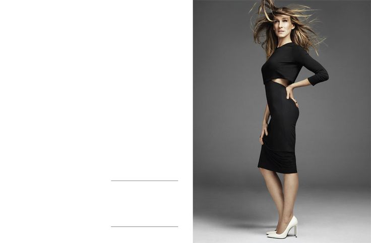 SJP wears Haider Ackerman dress with Saint Laurent Shoes