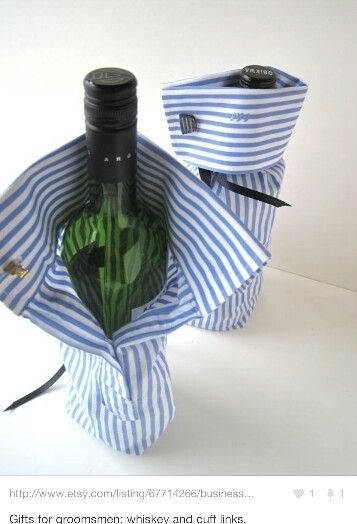 Great way to wrap a bottle of wine or scotch!