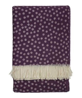 Polka mulberry Merino wool throw Sale - Emma Bridgewater Sale