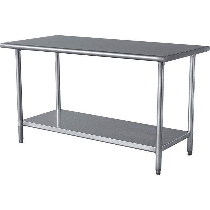 Kitchen Prep Table Stainless Steel - Cheap Kitchen island Ideas Check more at http://www.entropiads.com/kitchen-prep-table-stainless-steel/