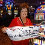 Congratulations to Sharon from Texas––on August 15 she won $2,400 playing a Double Red, White, & Blue slot game!