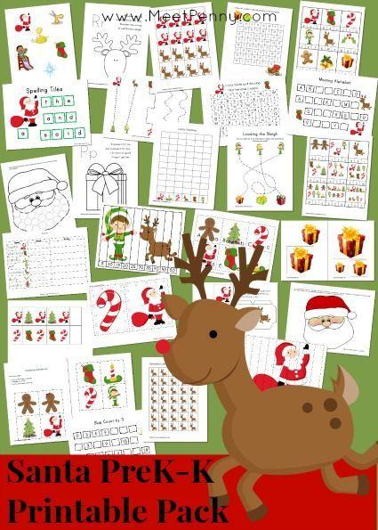 Santa Prek and K Printable Packet