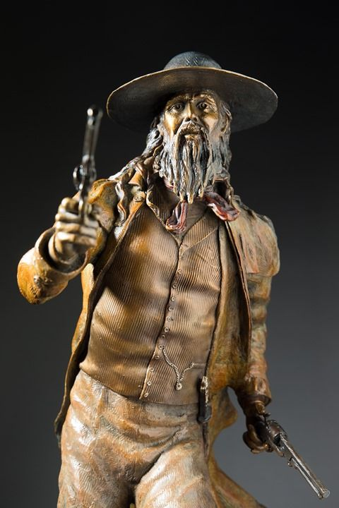 This amazing sculpture by Shari Lynn Acevedo of Porter Rockwell is for sale at King's Gallery!  Individuals that are interested in learning more about this sculpture can visit with Ms. Acevedo at King's Gallery Holiday Gala on December 14th...