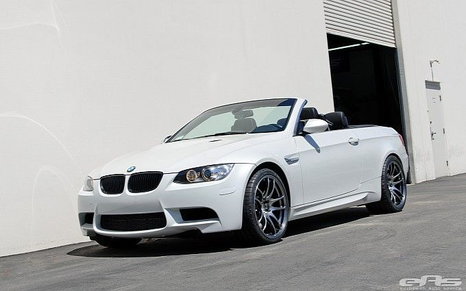 BMW E93 M3 Convertible on Work Wheels