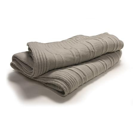 Mink Rosalie Collection Knitted Throw | Dunelm Mill
