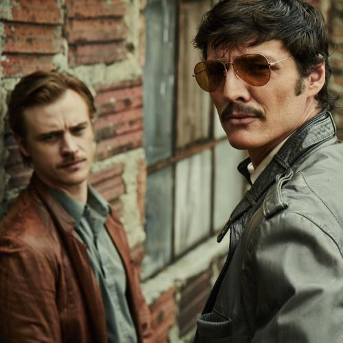 Robert Boyd Holbrook and Pedro Pascal for NARCOS