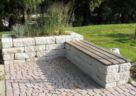 Landesgartenschu Oschatz 2006 Sitzplatz Aus Betonstein Bankplatz mit Pflanzbecken
