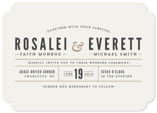 wedding invitations - Classic Type by Pistols