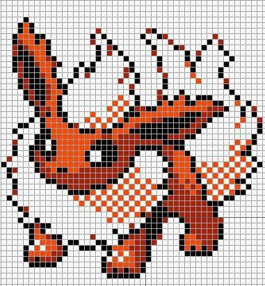 Pixel Art Evoli Von Pockèmon Pixel Art Minecraft Pixel