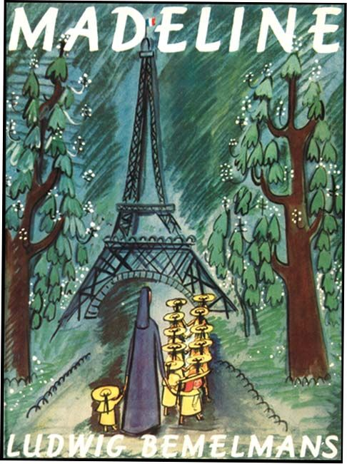 "Madeline (1939). Ludwig Bemelmans (1898-1962. He was an essayist, humorist, novelist, artist and an author of books for children. New York: Simon and Schuster. First edition. Original dust jacket. ""...Lived twelve little girls in two straight lines / In two straight lines they broke their bread / And brushed their teeth and went to bed. / They left the house at half past nine / In two straight lines in rain or shine- / The smallest one was Madeline."" ― Ludwig Bemelmans, Madeline"
