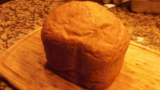 A bread machine takes the guesswork out of making bread. But it is hard to find a delicious And nutritious 100% White Whole Wheat Bread recipe for a bread machine. This recipe works great on the popular Panasonic SD-YD250 Bread Bakery. This recipe is for 1-1/2 lb loaf (size M). For 2 lb loaf (size L) change the servings below to 1.25 loaf and for 2-1/2 lb loaf (size XL) change the servings to 1.5 loaf.
