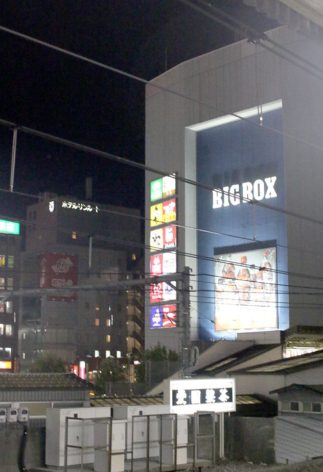 Big Box from Takadanobaba station Yamanote line platform