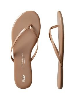Leather flip flops - love the nude flip flops for the summer. my go to on-the-go shoes!