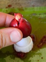 This is so good to know...use cheap dollar store frosting/pastry tip to get pits out of cherries! No fancy expensive tools for me!