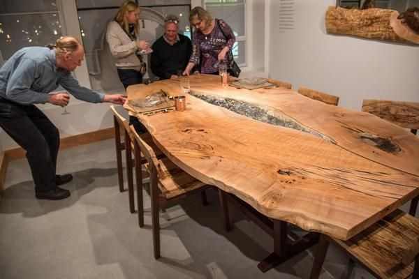 Natural Wood Dining Table Live Edge Room Furniture With: 25+ Best Ideas About Live Edge Table On Pinterest