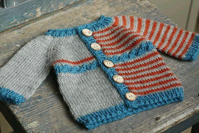 Free Knitting Patterns Baby Striped Cardigan : 17 mejores imagenes sobre Tejido y mas en Pinterest ...