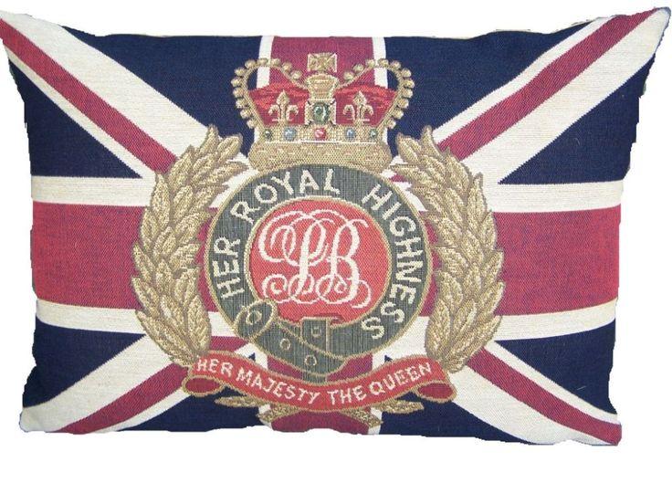 half kussen vlag her majesty