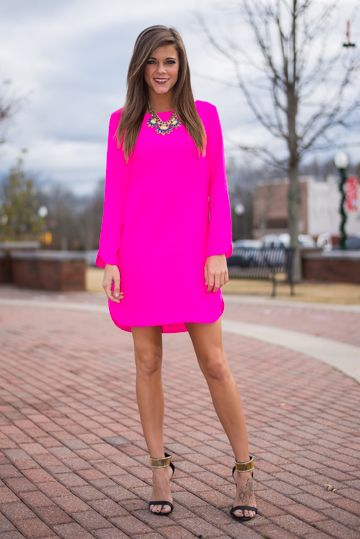 LOVEE this neon pink dress!!