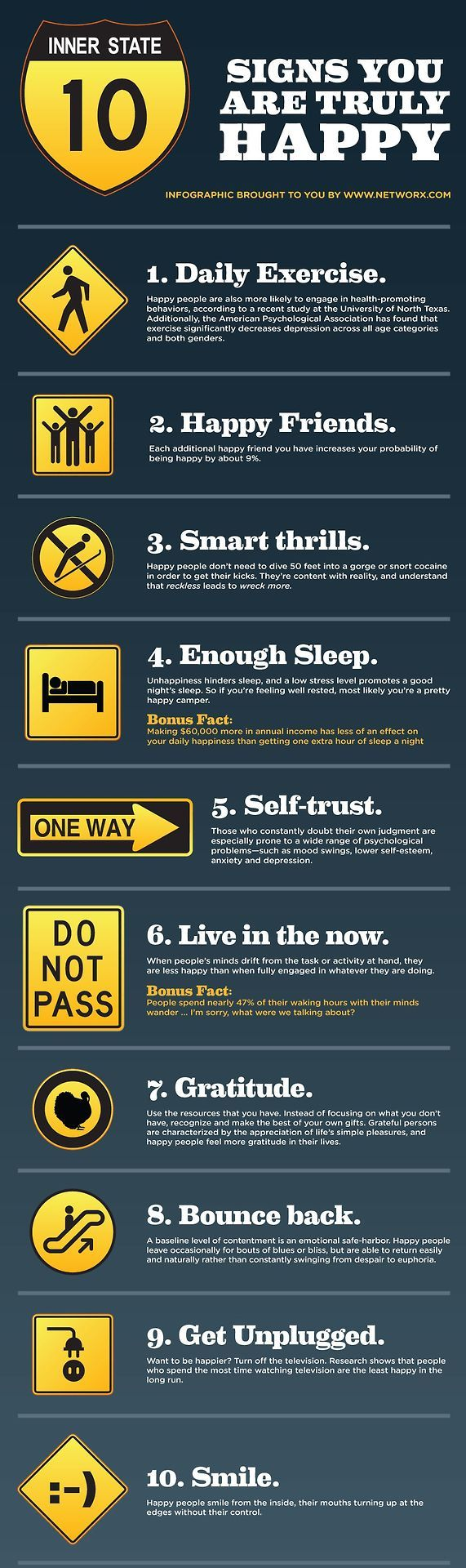 12/14/13 (4-4) 10 signs that you are truly happy..