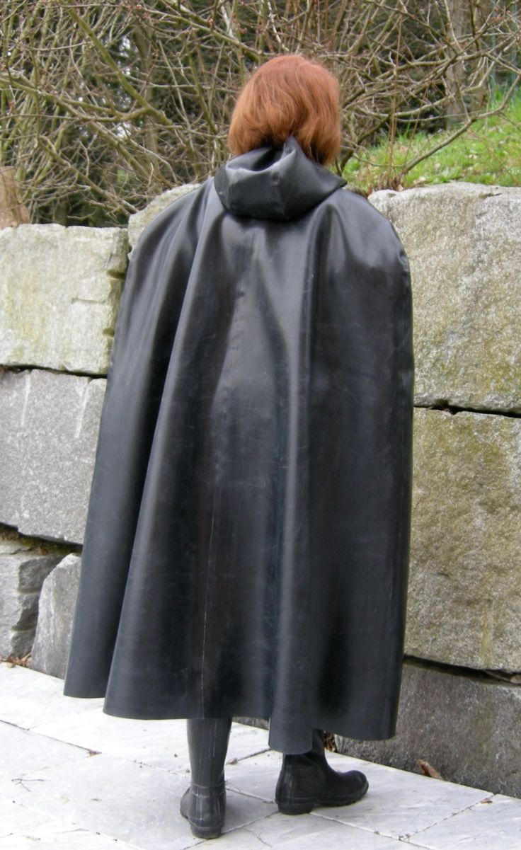 Riding cape for foul weather..