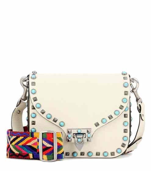 Valentino Garavani Rockstud Rolling leather shoulder bag | Valentino