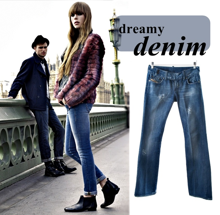 With a long weekend of relaxing ahead, denim jeans are a versatile and comfortable garment to spend it in! Easily dressed up or down, jeans have stood the test of time and are a winter must-have item. Check out these stylish Diesel Women's Blue Jeans, available at our online store!  #2ndTake #OnlineShopping #Fashion #Designer #Diesel #Jeans #Denim #CapeTown #Friday