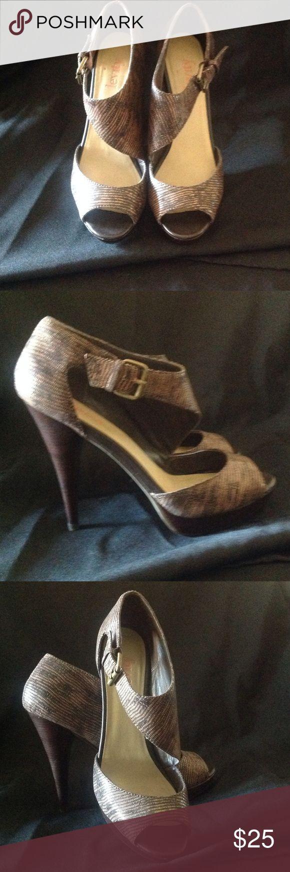 Levity high hells Beautiful, gently worn brown Levity brand pumps.  Sz 8.5 Shoes Heels