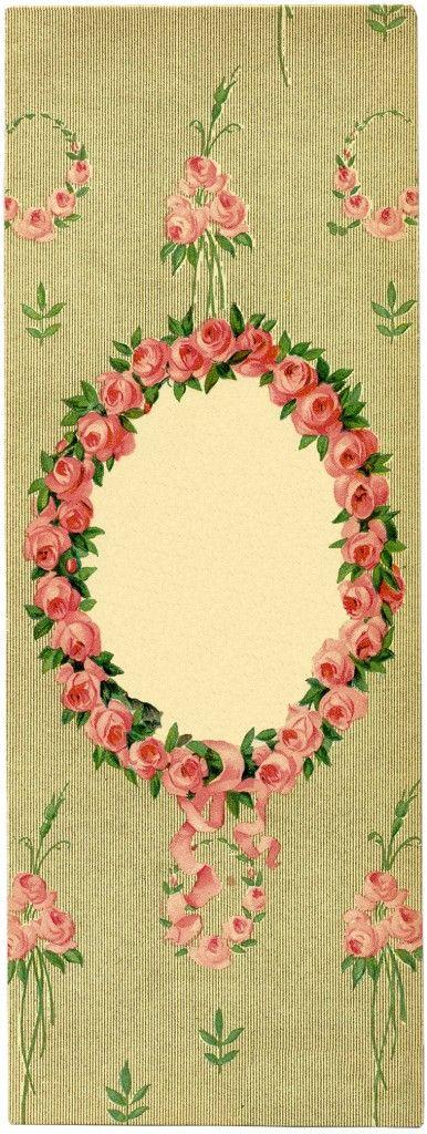 Lady romântico com flores Frame Imagens - A fada dos gráficos
