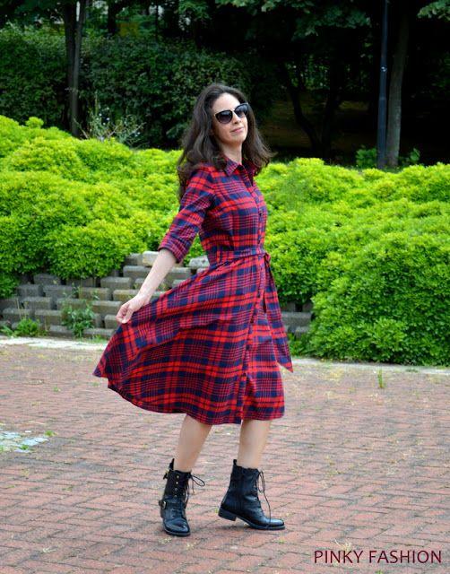 PINKY FASHION: Gömlek Elbise Kombinim