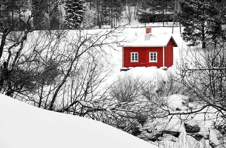 Turku, Finland.   Winter sauna
