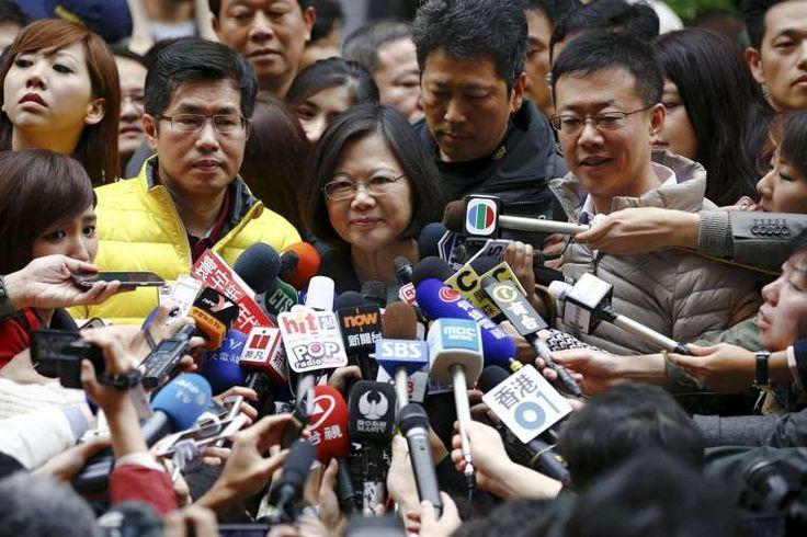 Democratic Progressive Party's Ms Tsai Ing-wen has won Taiwan's presidential election, becoming the island's first female president.