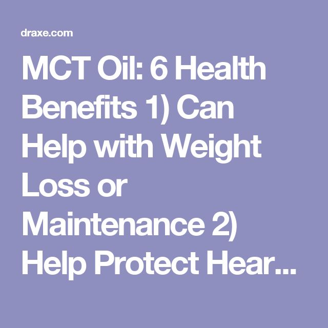 mct coconut oil weight loss