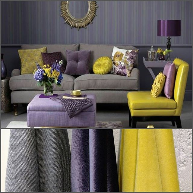 Cinza, roxo e amarelo.   Essa combinação de cores parece improvável, mas fica muito harmônico, moderno e elegante.   O que você acha?   #villanovatecidos #tecidosvillanova #tecidosqueencantam #tecidosexclusivos #tecidosparadecoracao #tecidos #almofadas #decoracao #estilo #arquitetura #fabrics #fabricsfordecoration #decoration #design #home #amareloroxo #roxoamarelo #cinza #amareloroxo #roxo