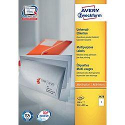 #Papier #Avery Zweckform #3478Z   Avery Zweckform 3478Z selbstklebende Etikette  Weiß Rechteck 210 x 297     Hier klicken, um weiterzulesen.  Ihr Onlineshop in #Zürich #Bern #Basel #Genf #St.Gallen