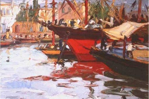 Barca en el Riachuelo
