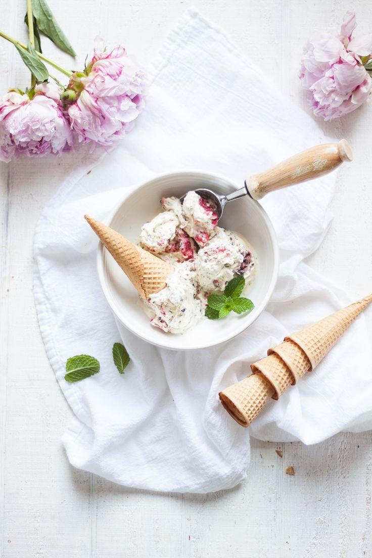 Vanilla Berry Chia Seed Ice Cream with KitchenAid Ice Cream Maker