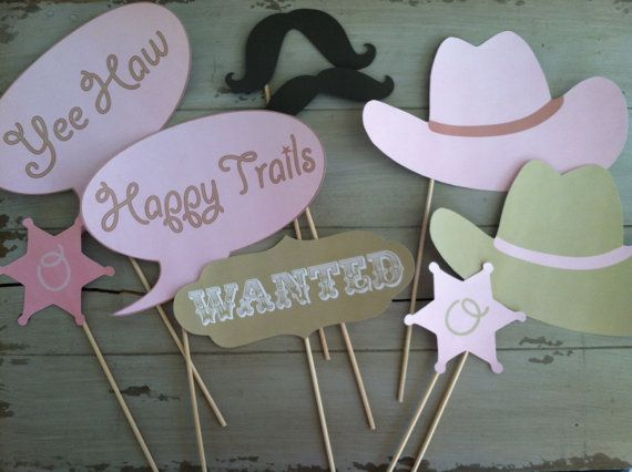 Cowgirl or Cowboy Horse Birthday party photo props