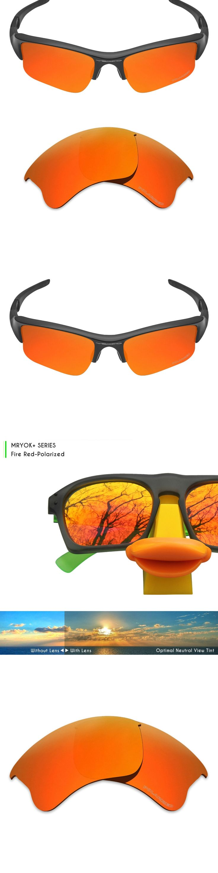 Mryok+ POLARIZED Resist SeaWater Replacement Lenses for Oakley Flak Jacket XLJ Sunglasses Fire Red