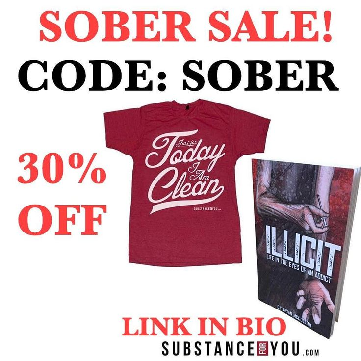 """Don't miss this short lived sale to get your photo on our timeline! CODE """"SOBER"""" is 30% off at checkout at Substanceforyou.com (click link in bio to get there quick!!) - -"""