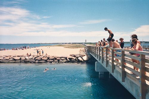 "Martha's Vineyard MA rite of passage, jumping off the ""Jaws"" bridge! Done it before really fun and scary."
