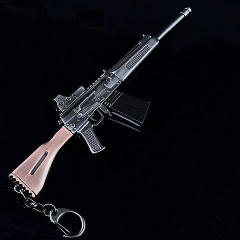 Keychains Collectibles PUBG Sawed-off shotgun Gun Model Key