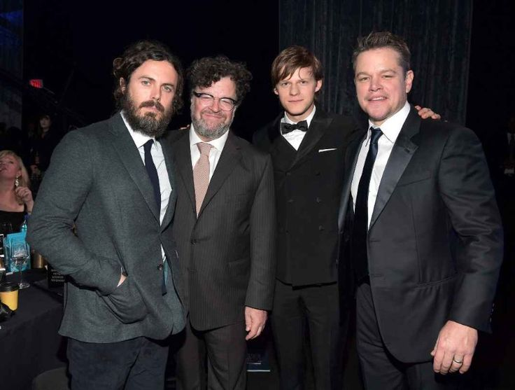 Casey Affleck, Kenneth Lonergan, Lucas Hedges, and Matt Damon