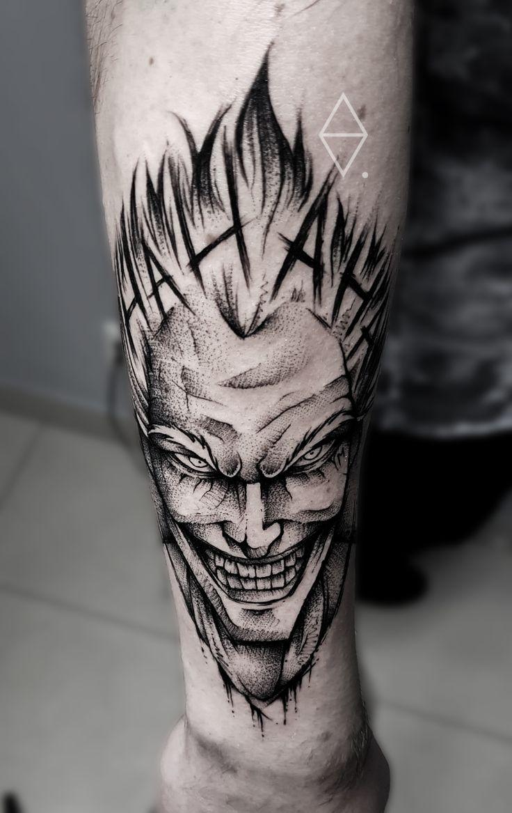 joker tattoo by szymon olech sketch tattoo tatuagens. Black Bedroom Furniture Sets. Home Design Ideas