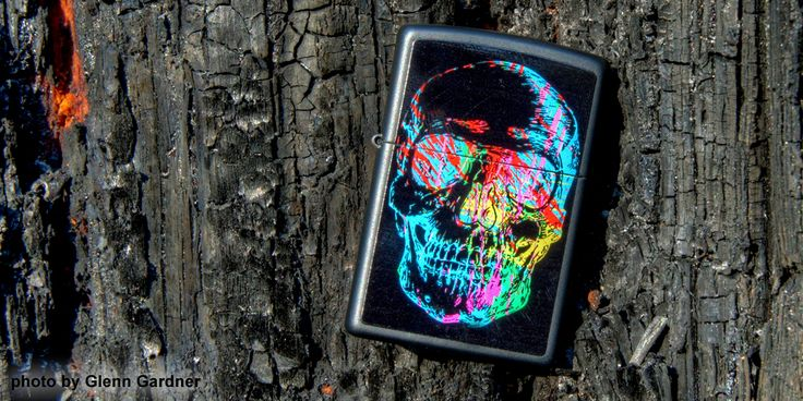 This Black Matte lighter Zippo windproof lighter is color imaged with a colorful skull. Comes packaged in an environmentally friendly gift box. For optimal performance, use with Zippo premium lighter fluid.