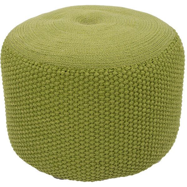 Rustic Pouf in Spinach Green design by Jaipur ($199) ❤ liked on Polyvore featuring home, furniture, ottomans, poufs, rustic outdoor furniture, outdoor furniture, outside furniture, rustic furniture and outdoor footstool